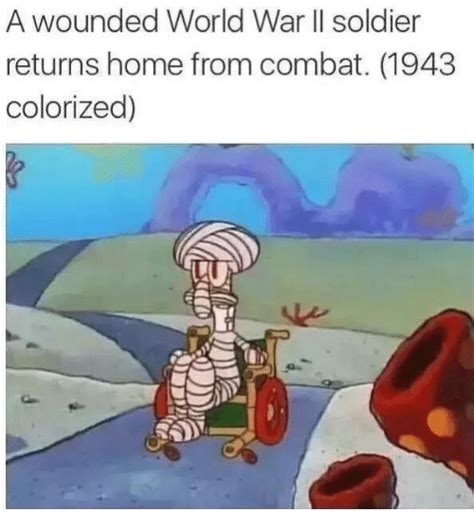 Colorized Memes - a wounded world war ii soldier returns home from combat 1943 colorized soldiers meme on sizzle