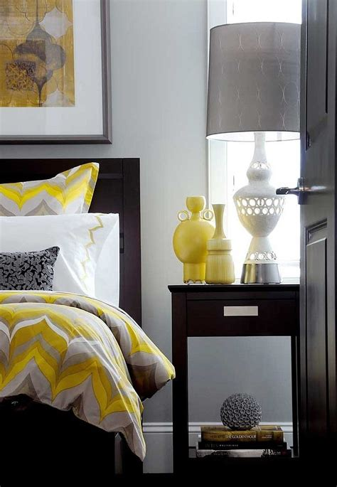 deco chambre gris et jaune idées déco pour une chambre jaune et grise