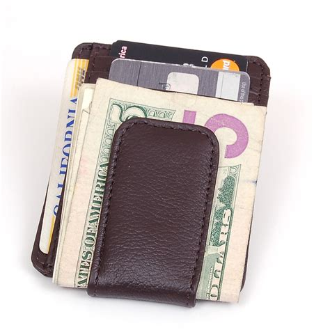 It comes in the form of a black. Mens Leather Wallet Money Clip Credit Card ID Holder Front Pocket Thin Slim NEW | eBay