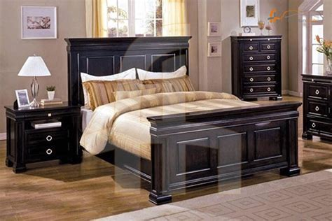 buy  piece bedroom set espresso   discount