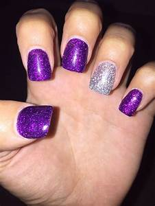 Purple And Silver Nails | www.imgkid.com - The Image Kid ...