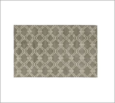 scroll tile rug grey pottery barn lounge room