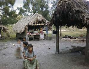 Florida Memory - Seminole children playing outside chickee ...
