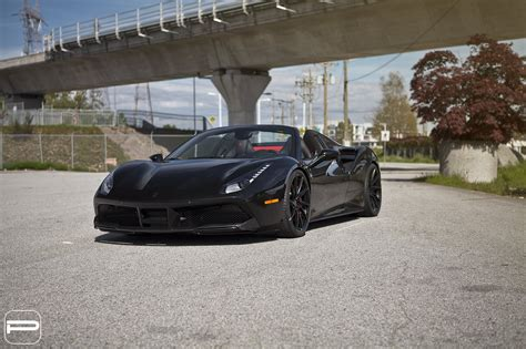 Monaco is for sure the carspotting heaven, because you can see over. Black Widow: Ferrari 488 Gets Custom LED Headlights — CARiD.com Gallery