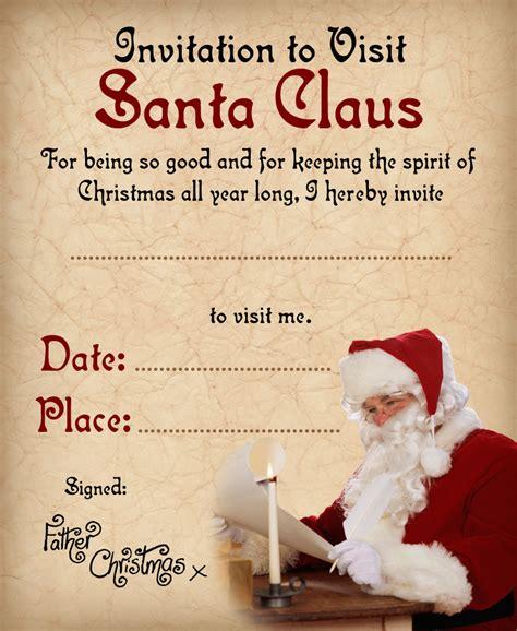invitation  visit santa claus rooftop post printables