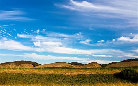 pretty hills grass bush sky wallpapers pretty hills