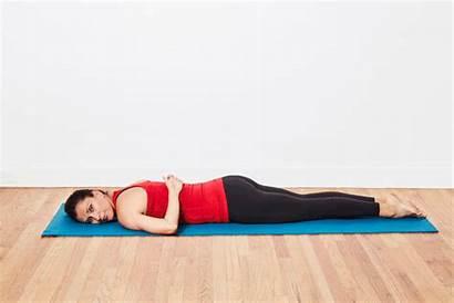 Double Pilates Leg Kick Exercise Mat Butt