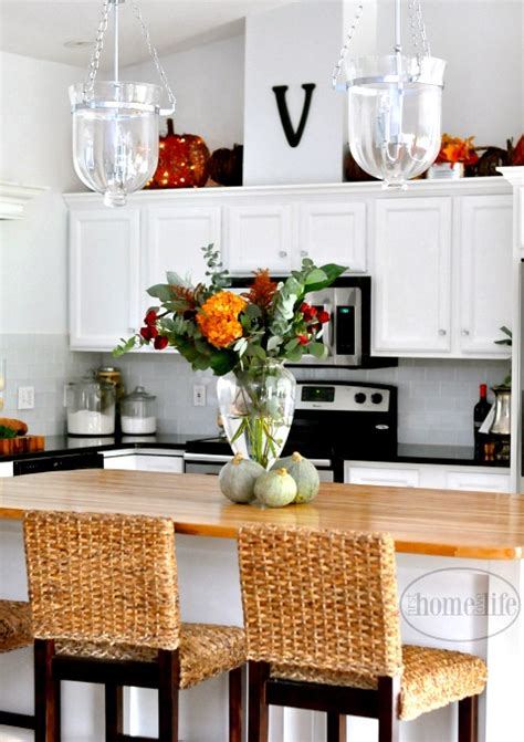Fall Kitchen Decorating  First Home Love Life