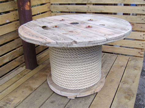 large wooden spools used for tables table made from wooden cable reel spool idea cut bottom