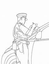 Coloring Policeman Printable sketch template