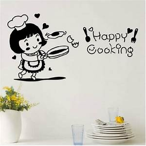 Happy Cooking Quotes Vinyl Decal vinyl lettering by