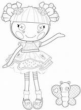 Coloring Rag Doll Pages Lalaloopsy Getcolorings Dolls Printable sketch template