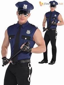 Adult Mens Police Officer Costume Policeman New York Cop Fancy Dress Uniform | eBay