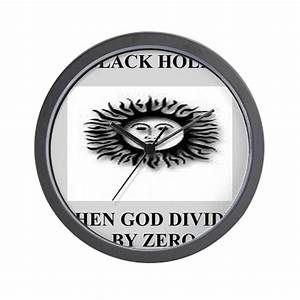 funny black hole joke gifts t-shirts Wall Clock by nanonerd