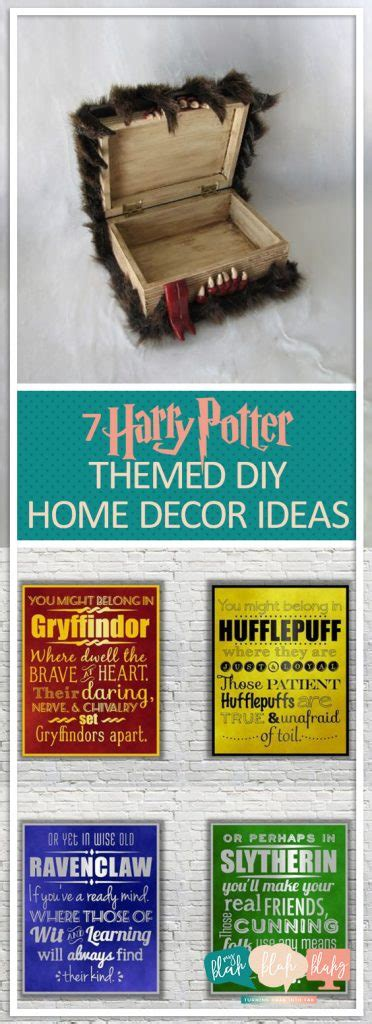 harry potter themed diy home decor ideas