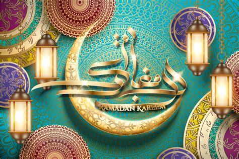 ramadan kareem calligraphy vectors image