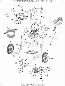 Homelite Ps80995a Powerstroke Pressure Washer Mfg  No  090079315 Parts Diagram For General Assembly