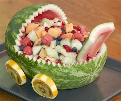 How To Make Watermelon Fruit Bowl For Baby Shower Free