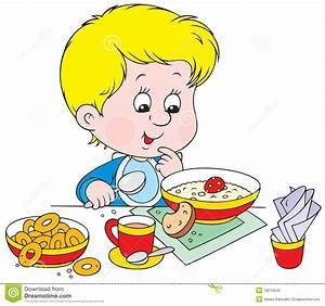 Cereal clipart boy eating - Pencil and in color cereal ...