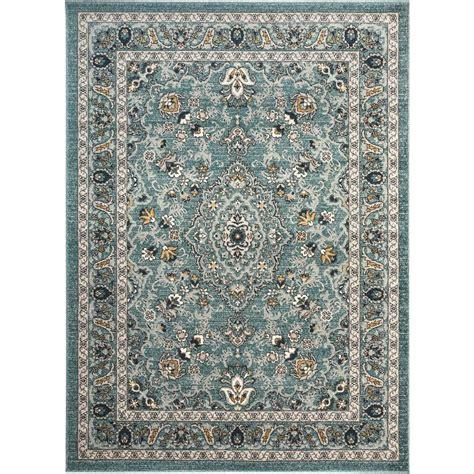 aqua area rug 8x10 tayse rugs kensington aqua 5 ft 3 in x 7 ft 3 in