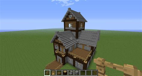 beautiful medieval house tutorial creative mode minecraft java edition minecraft forum