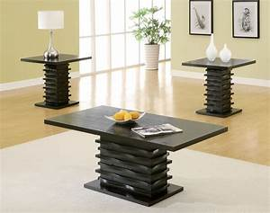 Dreamfurniturecom 701514 contemporary 3 piece coffee for Modern coffee table and end table set