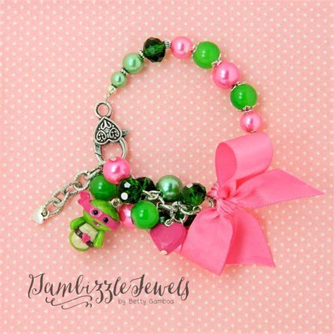 tmnt girly ninja turtles pink  green beaded