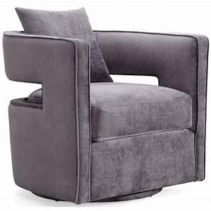 Kenneth, Swivel, Chair, Grey, In, 2020