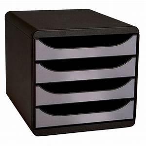 Banette De Rangement : exacompta big box 4 tiroirs noir argent module de classement exacompta sur ~ Teatrodelosmanantiales.com Idées de Décoration