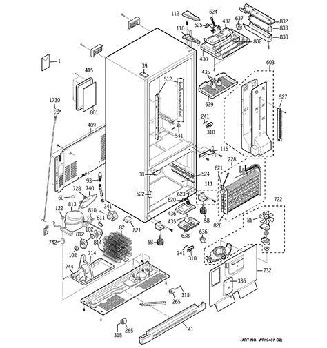 ge bottom mount refrigerator parts model pdsscparss