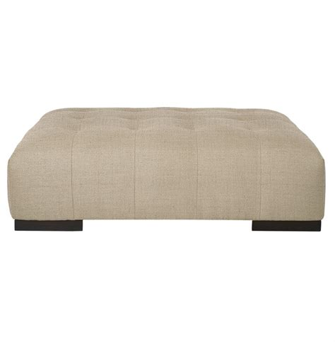 rectangular tufted ottoman cisco brothers arden modern classic tufted beige linen 1756