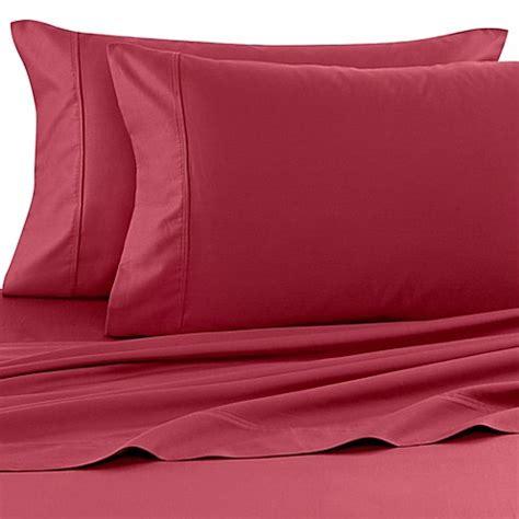 wamsutta sheets buy wamsutta 174 400 thread count dual california king sheet set in burgundy from bed bath beyond