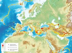 Seismic hazard map of Europe and Middle East [2598x1908 ...