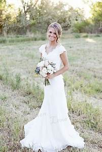 2015 popular v neck mermaid lace western country style With outdoor country wedding dresses