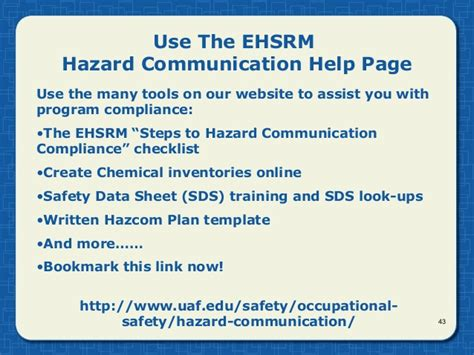 hazard communication ghs  uaf