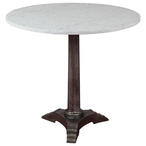 french art deco marble top bistro cafe table  stdibs