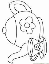 Coloring Teapot Printable sketch template