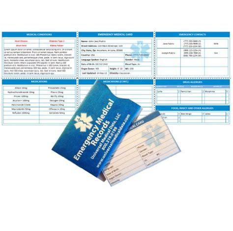pre engraved  wallet card sport medical id bracelets