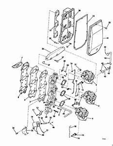 Evinrude Intake Manifold Parts For 1979 70hp 70973r