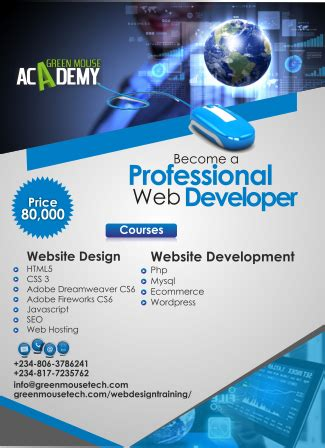 web design training company  lagos greenmouse