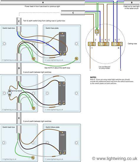 3 way light intermediate switch wiring light wiring