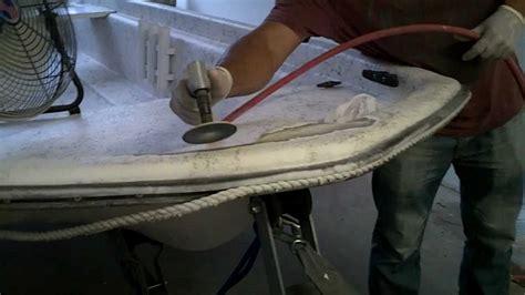 Boat Deck Gelcoat Repair by Fiberglass Gelcoat Boat Repair Service Kendall How To
