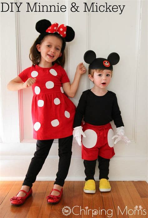 Easy DIY Mickey u0026 Pals Costumes | Mouse costume Mickey ...