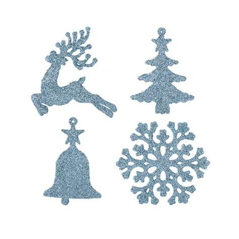 Disco Ice Blue Baubles Christmas Tree Decorations 3cm ...