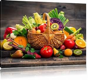 Obst Mit L : frisches obst und gem se im korb leinwandbild leinwandbilder ~ Buech-reservation.com Haus und Dekorationen