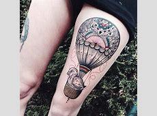48 Incredible Hot Air Balloon Tattoo Designs TattooBlend