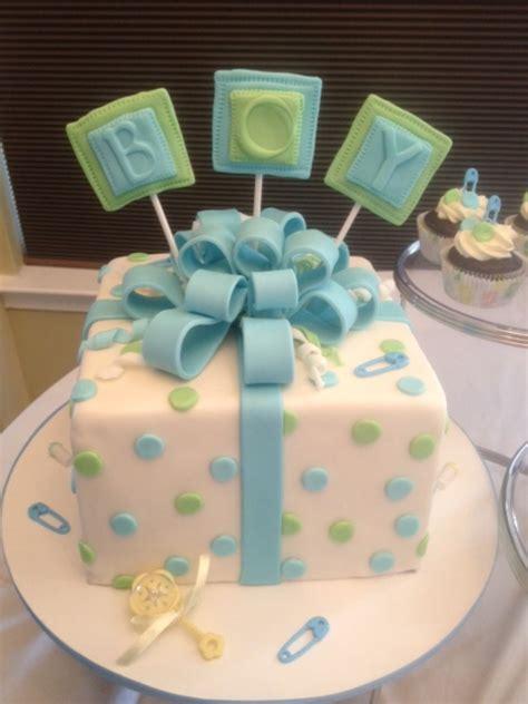 baby shower celebration cake  matching cupcakes