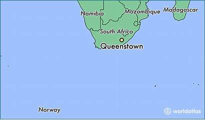 Queenstown Map Africa South Location Cape Eastern