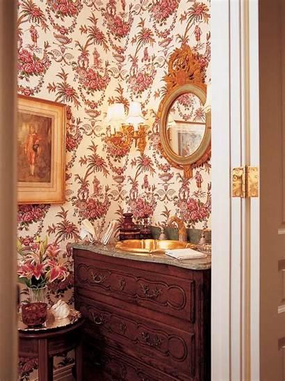Charles Faudree Victorian Powder Bathroom Floral Hgtv