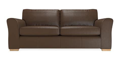 Buy Michigan Leather Medium Sofa 3 Seats Columbia Dark